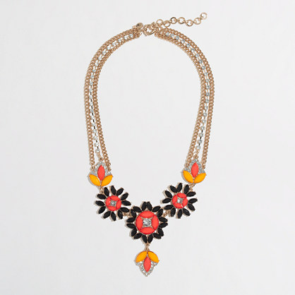 Factory jeweled chain flower necklace