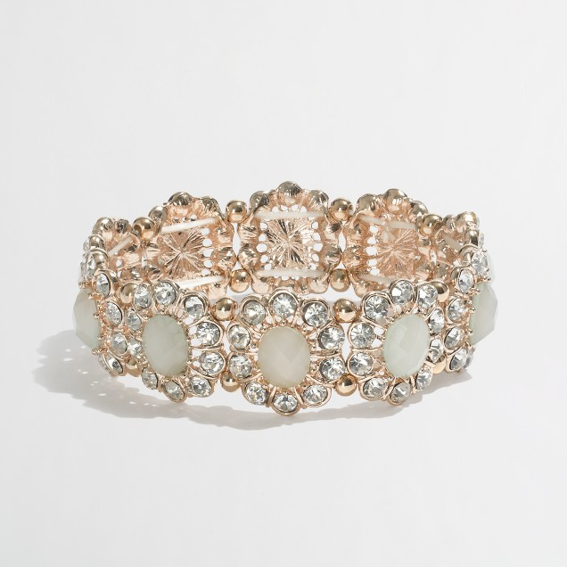 Factory crystal daisy stretch bracelet
