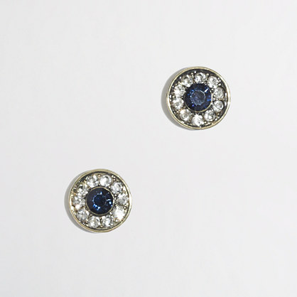 Factory crystal stud earrings