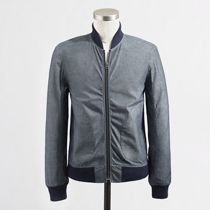 Factory chambray bomber jacket