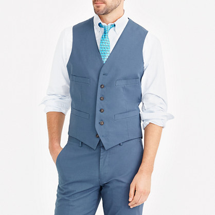 Thompson suit vest in chino