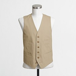 Factory Thompson suit vest in chino