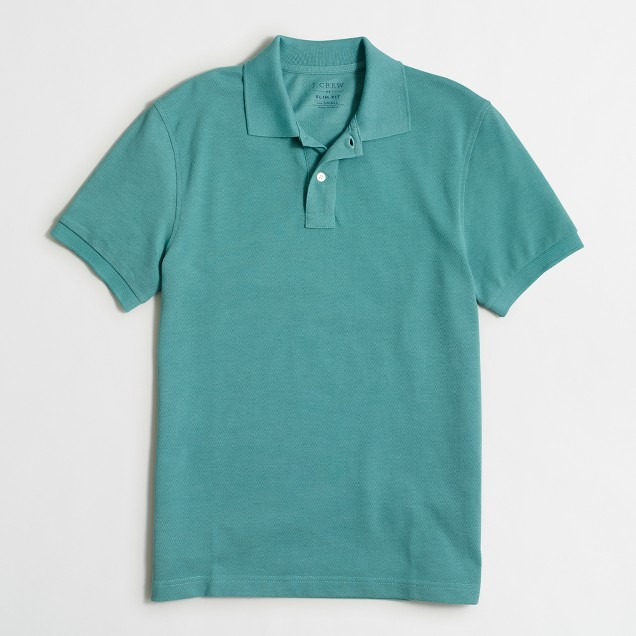 Slim heathered piqué polo shirt