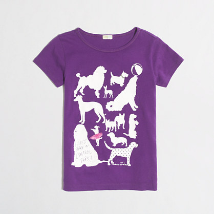 Factory girls' dog party keepsake tee
