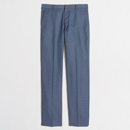 Factory slim Thompson suit pant in worsted wool