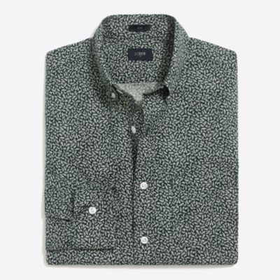 Slim printed washed shirt