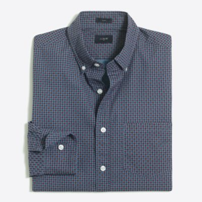Slim printed washed shirt factorymen slim c