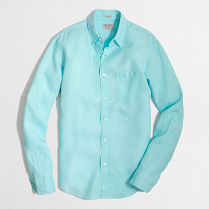 Factory slim linen shirt