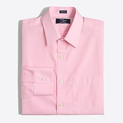 Factory wrinkle-free Voyager dress shirt in double check