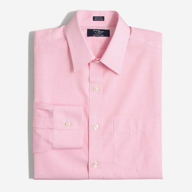 Wrinkle-free Voyager dress shirt in double check
