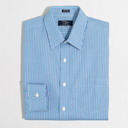 Wrinkle-free Voyager dress shirt in mini-tattersall