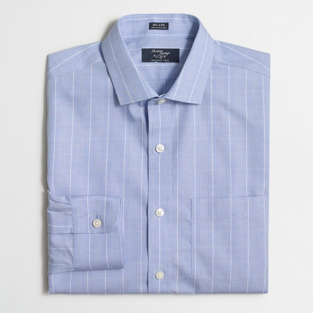 Wrinkle-free Voyager dress shirt in multicheck