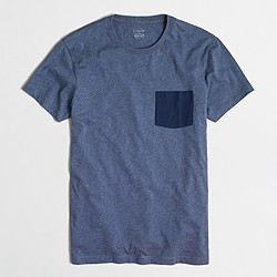 Slim contrast-pocket T-shirt
