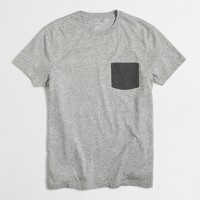 Tall slim contrast-pocket T-shirt
