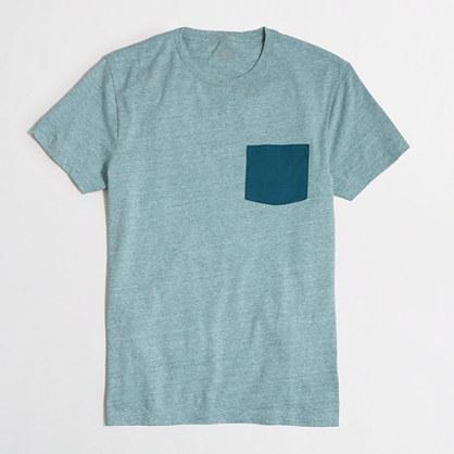 Slim contrast-pocket T-shirt