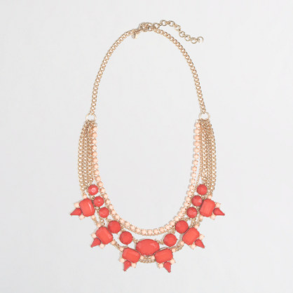 Factory multistrand stone and thorn necklace
