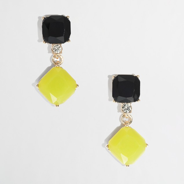Factory square drop earrings