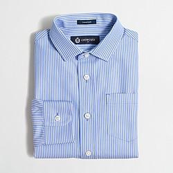Boys' patterned Thompson spread-collar dress shirt