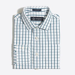 Boys' patterned Thompson spread-collar dress shirt