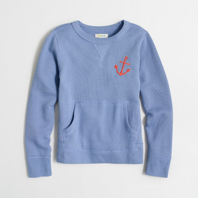 Boys' anchor pocket sweatshirt