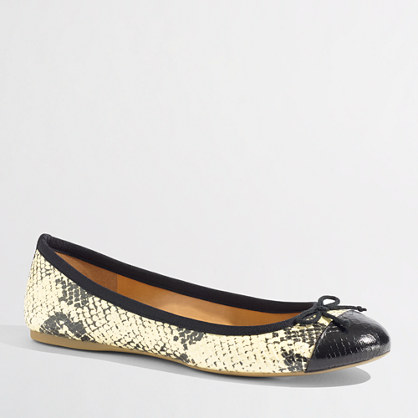 Factory snakeskin classic cap toe ballet flats