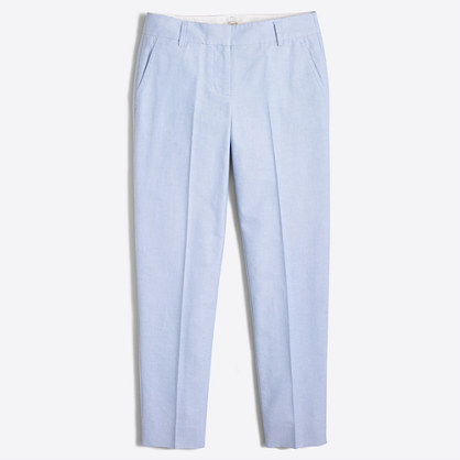 Petite skimmer pant in cotton oxford