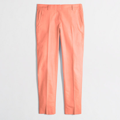 Skimmer pant in cotton oxford