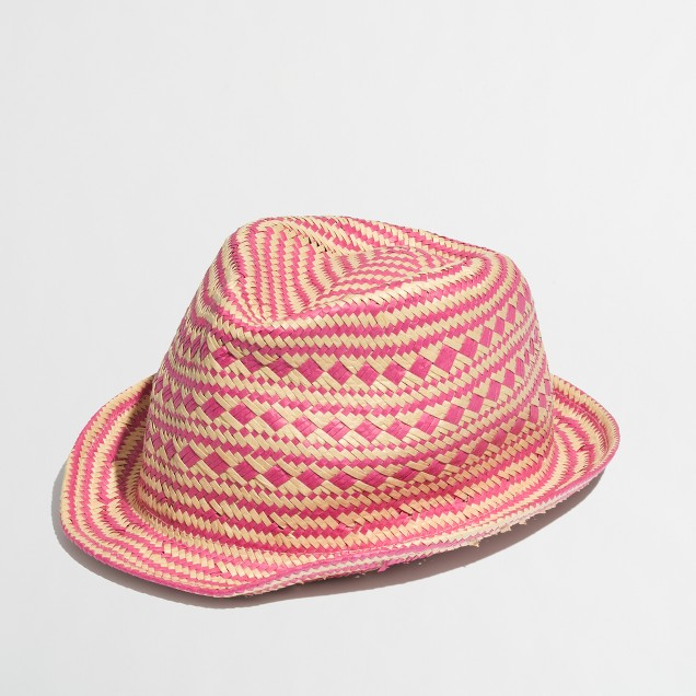 Factory girls' straw fedora