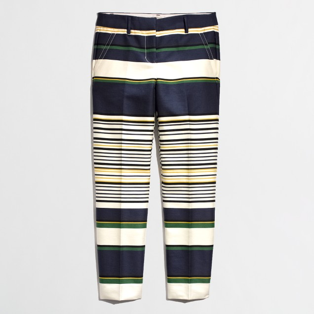 Factory skimmer pant in multistripe