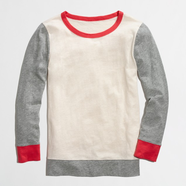 Factory colorblock baseball tee