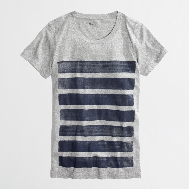 Factory bar-stripe collector tee