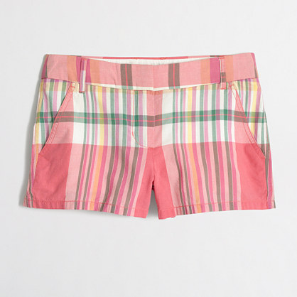 "3"" summer plaid short"