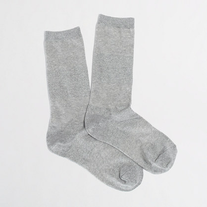 Factory metallic stripe socks