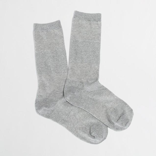 Factory metallic stripe socks