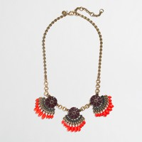 Factory fringed fan necklace
