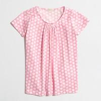 Factory girls' pleated tee in polka dot
