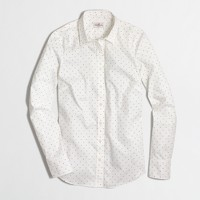 Printed stretch classic button-down shirt