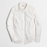 Printed stretch classic button-down shirt