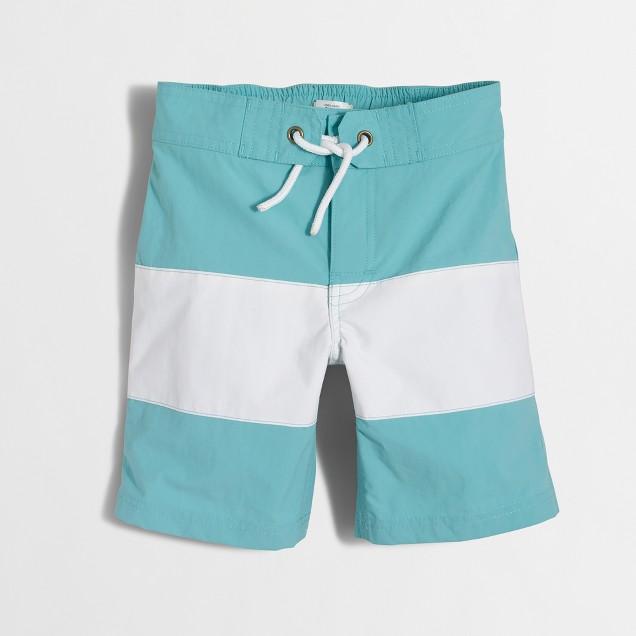 Boys' striped board short