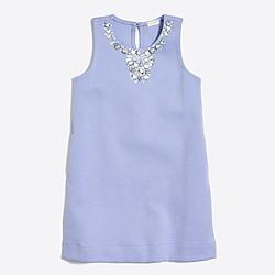 Girls' jeweled sleeveless dress