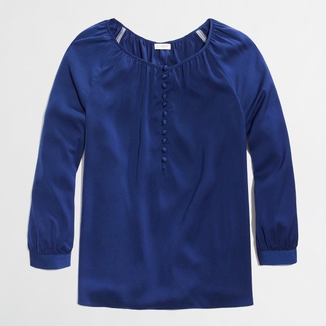 Factory buttoned peasant top