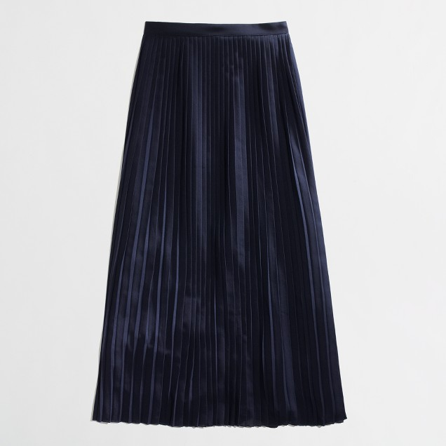 Factory pleated maxiskirt