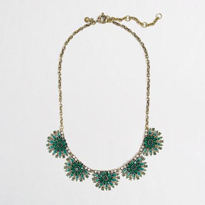 Factory fanned petal necklace
