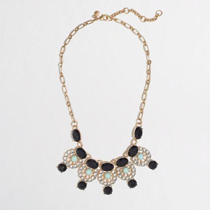 Factory pinwheel droplet necklace