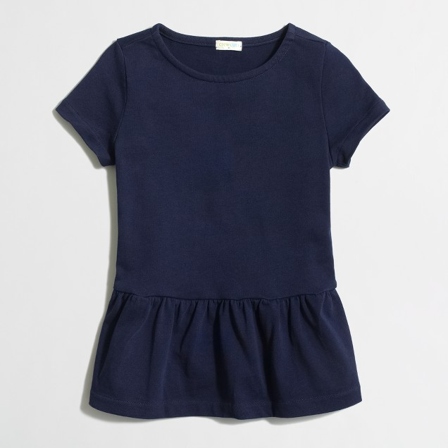 Factory girls' peplum tee