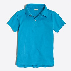Boys' jersey polo shirt