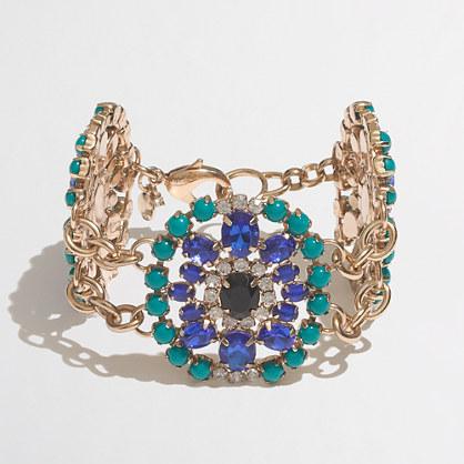 Factory jeweled brooch bracelet