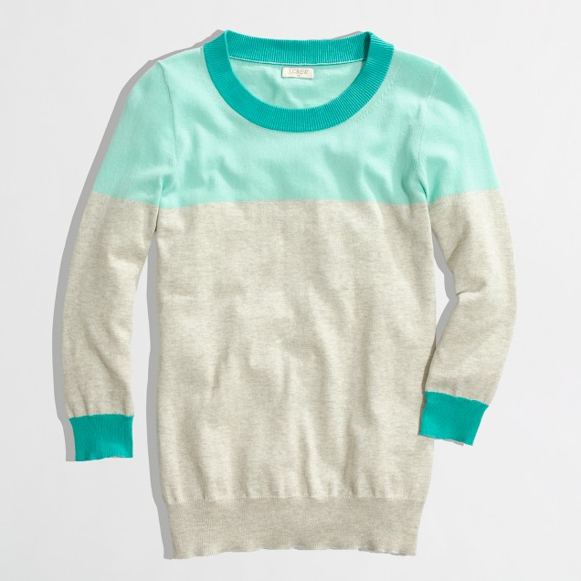Factory Charley sweater in colorblock