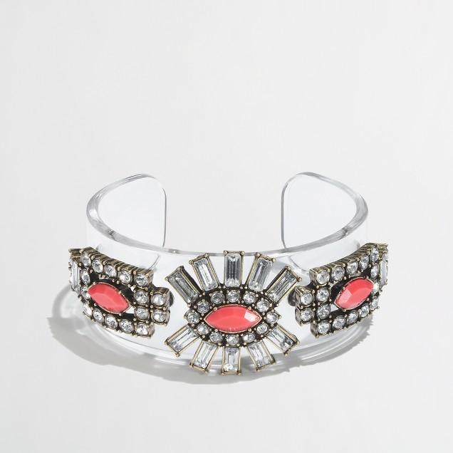 Factory crystal sunburst cuff bracelet