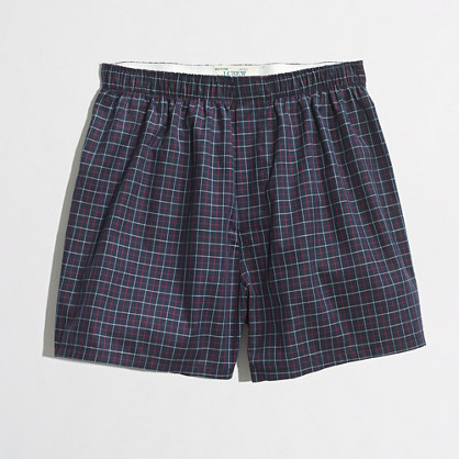 Factory blue check boxers